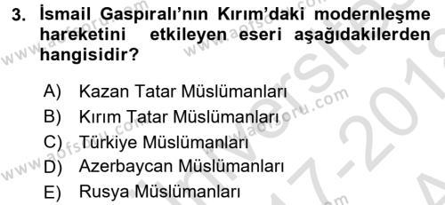 Çağdaş Türk Edebiyatları 1 Dersi 2017 - 2018 Yılı (Vize) Ara Sınav Soruları 3. Soru
