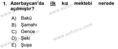 Çağdaş Türk Edebiyatları 1 Dersi 2018 - 2019 Yılı 3 Ders Sınav Soruları 1. Soru