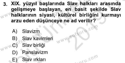 Çağdaş Türk Edebiyatları 1 Dersi 2018 - 2019 Yılı 3 Ders Sınav Soruları 3. Soru