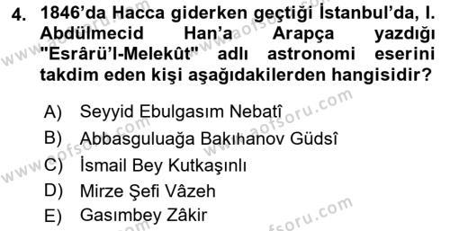 Çağdaş Türk Edebiyatları 1 Dersi 2018 - 2019 Yılı 3 Ders Sınav Soruları 4. Soru