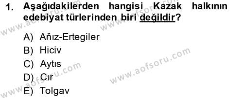 Türk Dili ve Edebiyatı Bölümü 8. Yarıyıl Çağdaş Türk Edebiyatları II Dersi 2014 Yılı Bahar Dönemi Ara Sınavı 1. Soru