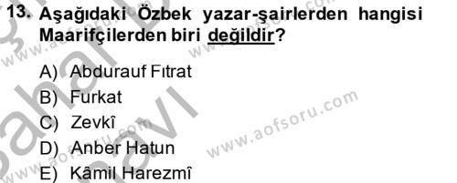 Çağdaş Türk Edebiyatları 2 Dersi Ara Sınavı Deneme Sınav Soruları 13. Soru
