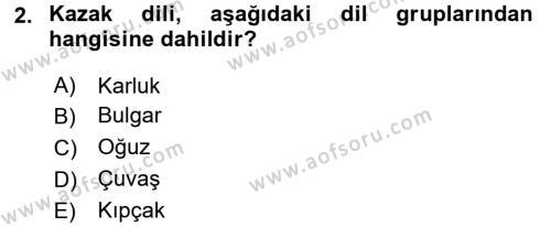 Çağdaş Türk Edebiyatları 2 Dersi 2016 - 2017 Yılı 3 Ders Sınav Soruları 2. Soru