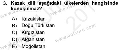 Çağdaş Türk Edebiyatları 2 Dersi 2017 - 2018 Yılı 3 Ders Sınav Soruları 3. Soru
