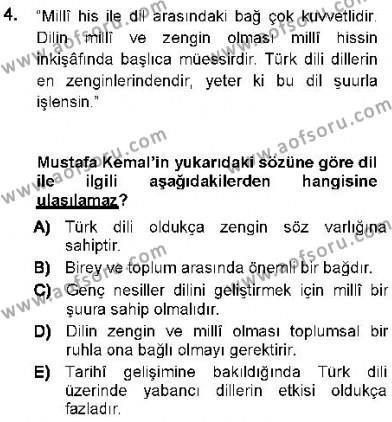 Cumhuriyet Dönemi Türk Nesri Dersi 2012 - 2013 Yılı Ara Sınavı 4. Soru
