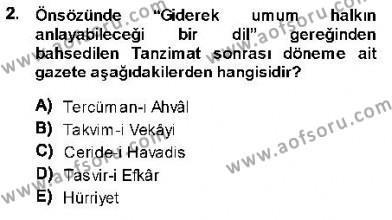 Cumhuriyet Dönemi Türk Nesri Dersi 2013 - 2014 Yılı (Vize) Ara Sınav Soruları 2. Soru
