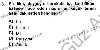 Cumhuriyet Dönemi Türk Nesri Dersi 2013 - 2014 Yılı (Vize) Ara Sınav Soruları 3. Soru