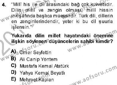 Cumhuriyet Dönemi Türk Nesri Dersi 2013 - 2014 Yılı (Vize) Ara Sınav Soruları 4. Soru