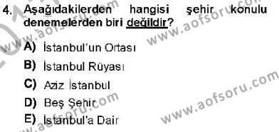 Cumhuriyet Dönemi Türk Nesri Dersi 2013 - 2014 Yılı Dönem Sonu Sınavı 4. Soru