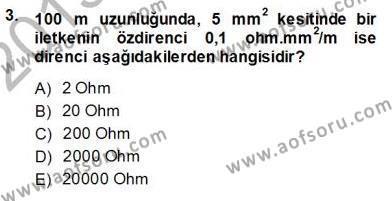 Devre Analizi Dersi 2013 - 2014 Yılı Ara Sınavı 3. Soru