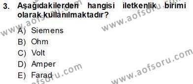 Devre Analizi Dersi 2013 - 2014 Yılı Tek Ders Sınavı 3. Soru