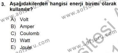 Devre Analizi Dersi 2015 - 2016 Yılı Ara Sınavı 3. Soru