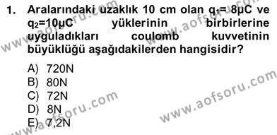 Enerji Yönetimi ve Politikaları Dersi 2012 - 2013 Yılı Ara Sınavı 1. Soru