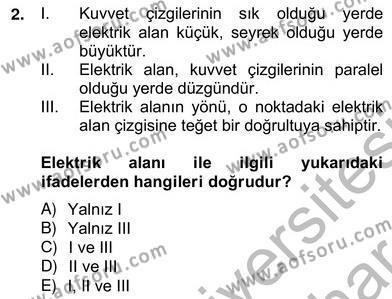 Enerji Yönetimi ve Politikaları Dersi 2012 - 2013 Yılı Ara Sınavı 2. Soru