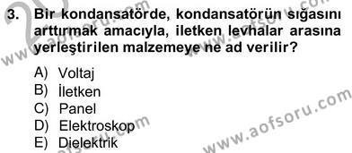 Enerji Yönetimi ve Politikaları Dersi 2012 - 2013 Yılı Ara Sınavı 3. Soru