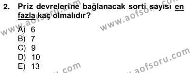 Elektrik Tesisat Planları Dersi 2012 - 2013 Yılı Ara Sınavı 2. Soru
