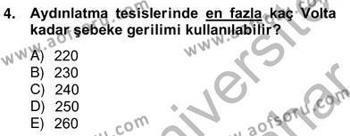 Elektrik Tesisat Planları Dersi 2012 - 2013 Yılı Ara Sınavı 4. Soru
