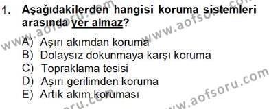 Elektrik Tesisat Planları Dersi 2012 - 2013 Yılı Dönem Sonu Sınavı 1. Soru