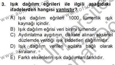 Elektrik Tesisat Planları Dersi 2012 - 2013 Yılı Dönem Sonu Sınavı 3. Soru