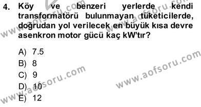 Elektrik Tesisat Planları Dersi 2013 - 2014 Yılı Ara Sınavı 4. Soru