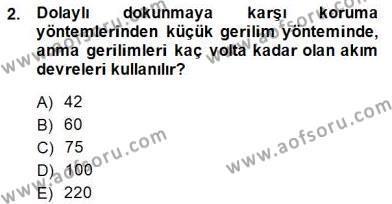 Elektrik Tesisat Planları Dersi 2014 - 2015 Yılı Dönem Sonu Sınavı 2. Soru