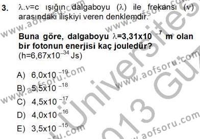 Elektrik Enerjisi Üretim, İletim ve Dağıtımı Bölümü 1. Yarıyıl Geleneksel Enerji Kaynakları Dersi 2013 Yılı Güz Dönemi Ara Sınavı 3. Soru