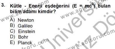 Geleneksel Enerji Kaynakları Dersi 2013 - 2014 Yılı Ara Sınavı 3. Soru