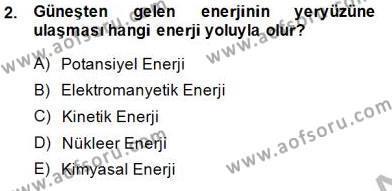 Geleneksel Enerji Kaynakları Dersi 2014 - 2015 Yılı Ara Sınavı 2. Soru