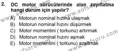 Elektrik Makinaları Dersi 2012 - 2013 Yılı Dönem Sonu Sınavı 2. Soru