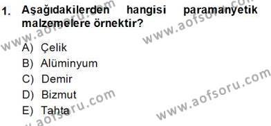 Elektrik Makinaları Dersi 2013 - 2014 Yılı Dönem Sonu Sınavı 1. Soru