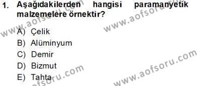 Elektrik Makinaları Dersi 2013 - 2014 Yılı Tek Ders Sınavı 1. Soru