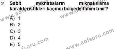 Elektrik Makinaları Dersi 2013 - 2014 Yılı Tek Ders Sınavı 2. Soru