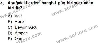 Elektrik Makinaları Dersi 2014 - 2015 Yılı Dönem Sonu Sınavı 4. Soru