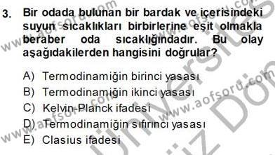 Enerji Analizi Dersi 2013 - 2014 Yılı Dönem Sonu Sınavı 3. Soru