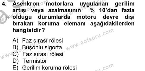 Elektromekanik Kumanda Sistemleri Dersi 2012 - 2013 Yılı Ara Sınavı 4. Soru