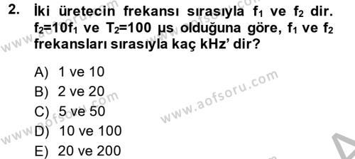 Elektrik Enerjisi İletimi ve Dağıtımı Dersi 2013 - 2014 Yılı Ara Sınavı 2. Soru
