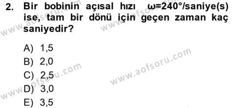 Elektrik Enerjisi İletimi ve Dağıtımı Dersi 2013 - 2014 Yılı Dönem Sonu Sınavı 2. Soru