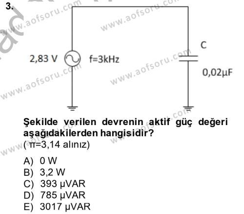 Elektrik Enerjisi İletimi ve Dağıtımı Dersi 2014 - 2015 Yılı (Vize) Ara Sınav Soruları 3. Soru