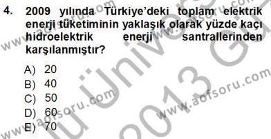 Elektrik Enerjisi Üretimi Dersi 2012 - 2013 Yılı Ara Sınavı 4. Soru