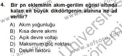 Elektrik Enerjisi Üretimi Dersi 2012 - 2013 Yılı Dönem Sonu Sınavı 4. Soru