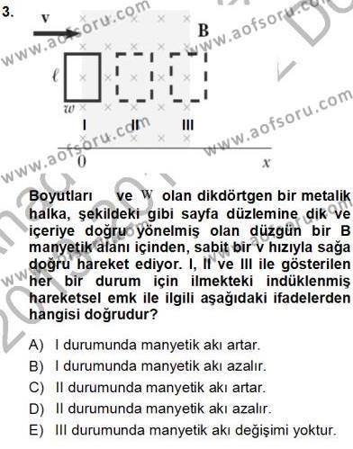 Elektrik Enerjisi Üretimi Dersi 2013 - 2014 Yılı Ara Sınavı 3. Soru