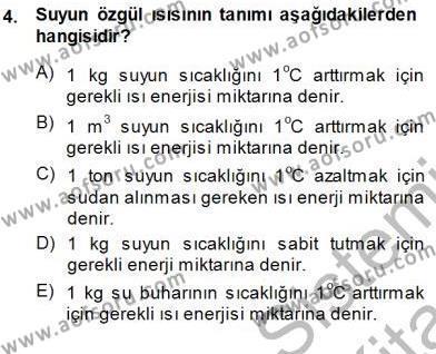 Elektrik Enerjisi Üretimi Dersi 2013 - 2014 Yılı Dönem Sonu Sınavı 4. Soru