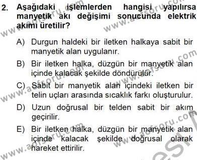 Elektrik Enerjisi Üretimi Dersi 2014 - 2015 Yılı Ara Sınavı 2. Soru