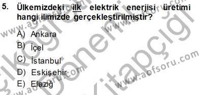 Elektrik Enerjisi Üretim, İletim ve Dağıtımı Bölümü 3. Yarıyıl Elektrik Enerjisi Üretimi Dersi 2015 Yılı Güz Dönemi Dönem Sonu Sınavı 5. Soru