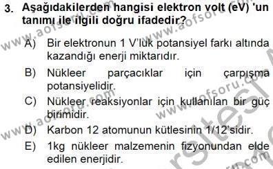 Elektrik Enerjisi Üretimi Dersi 2015 - 2016 Yılı Dönem Sonu Sınavı 3. Soru