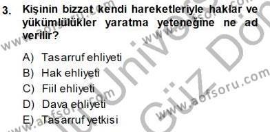 Konut Yapı Kooperatifçiliği Dersi 2013 - 2014 Yılı Dönem Sonu Sınavı 3. Soru