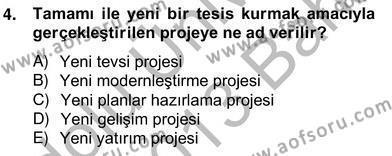Emlak ve Emlak Yönetimi Bölümü 4. Yarıyıl Bina ve Site Yöneticiliği Dersi 2013 Yılı Bahar Dönemi Ara Sınavı 4. Soru