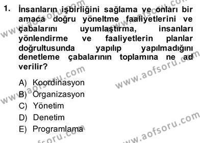 Emlak ve Emlak Yönetimi Bölümü 4. Yarıyıl Bina ve Site Yöneticiliği Dersi 2014 Yılı Bahar Dönemi Ara Sınavı 1. Soru