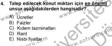 Gayrimenkul Yönetiminde Mesleki Etik Dersi 2012 - 2013 Yılı Dönem Sonu Sınavı 4. Soru