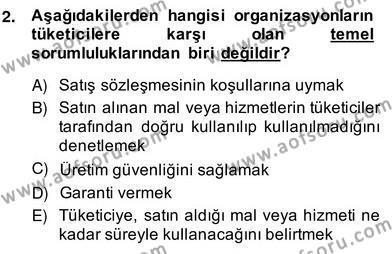 Gayrimenkul Yönetiminde Mesleki Etik Dersi 2013 - 2014 Yılı Ara Sınavı 2. Soru